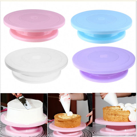 Plastic Cake Turntable Rotating Anti-skid Cake Decorating Turntable Cake Rotary Table Round Cake