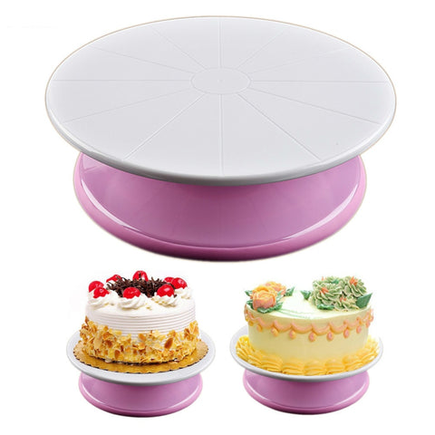 Plastic Cake Turntable Rotating Cake Decorating Turntable Anti-skid Round Cake Stand Cake Rotary