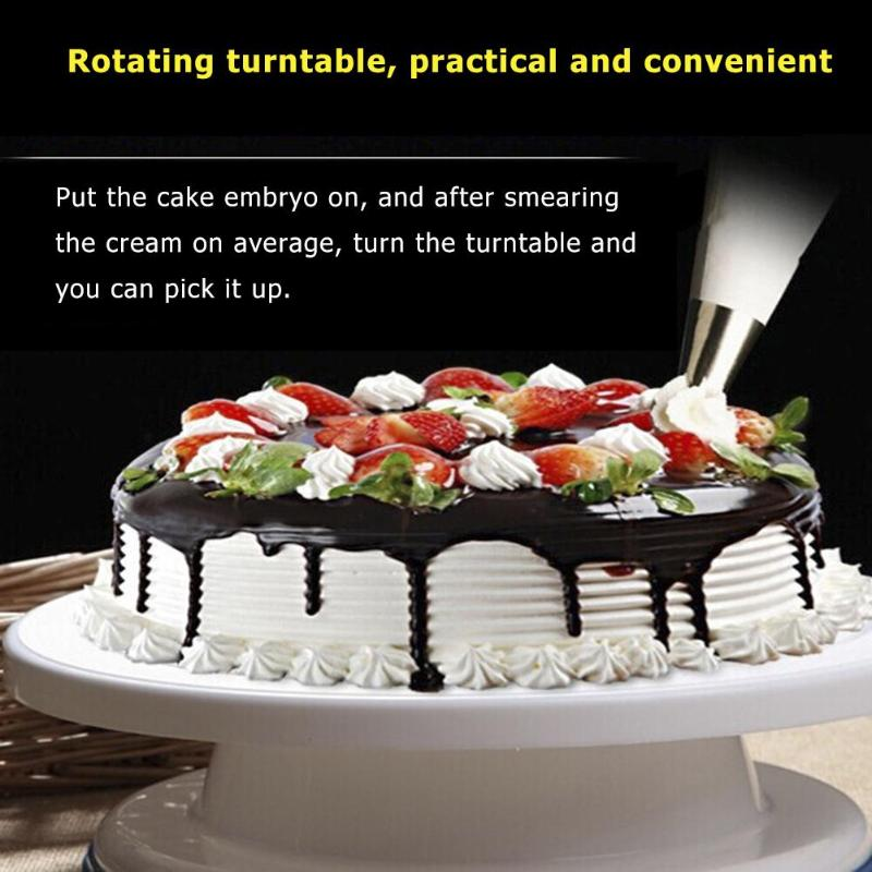 Plastic Cake Turntable Rotating Cake Plastic Dough Decorating Turntable Anti-skid Round Cake Stand