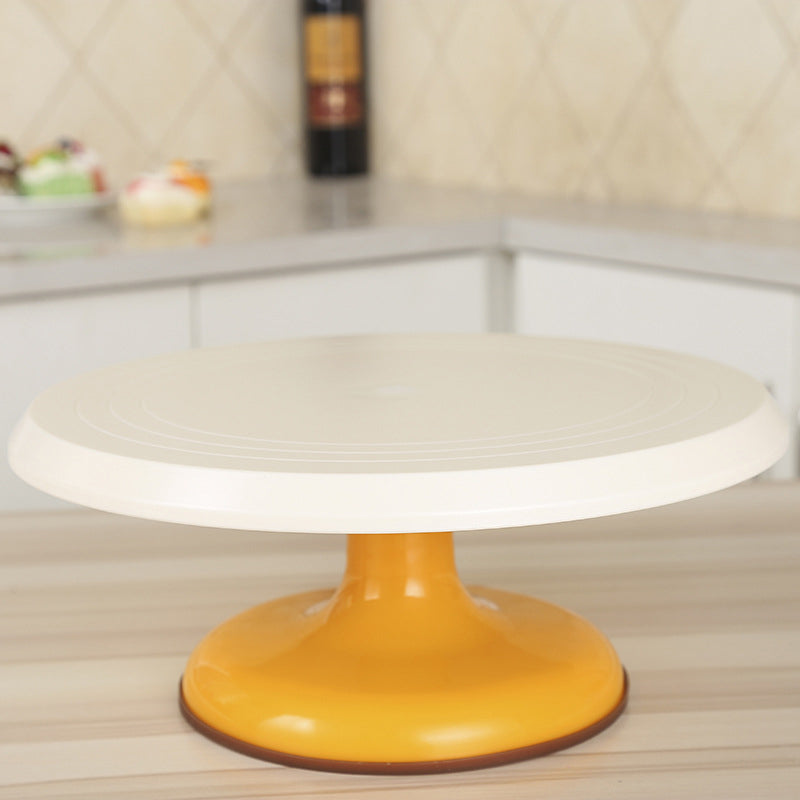 Plastic Cake Turntable Rotating Non-slip 12 Inch Birthday Cake Stand Baking Decoration Round Base