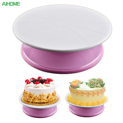 Plastic DIY Cake Turntable Rotating Cake Decorating Turntable Anti-Skid Round Cake Stand Cake Rotary