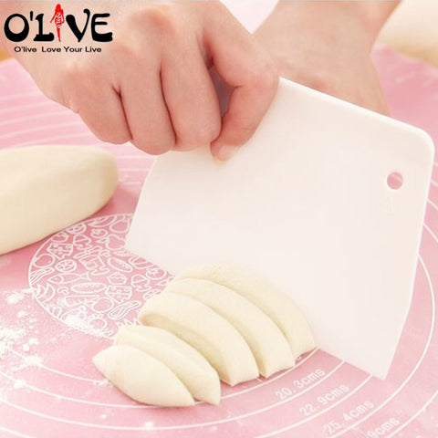 Plastic Scraper Cake Spatula Cookie Dough Cutter Knife Cake Smoother Blade Baking Pastry Accessories