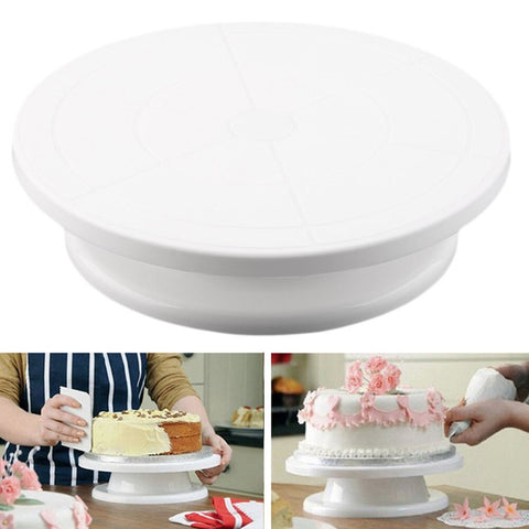 Plastic cake stand turntable 28*7 Plastic Decorating Cake piping turntable Baking tools