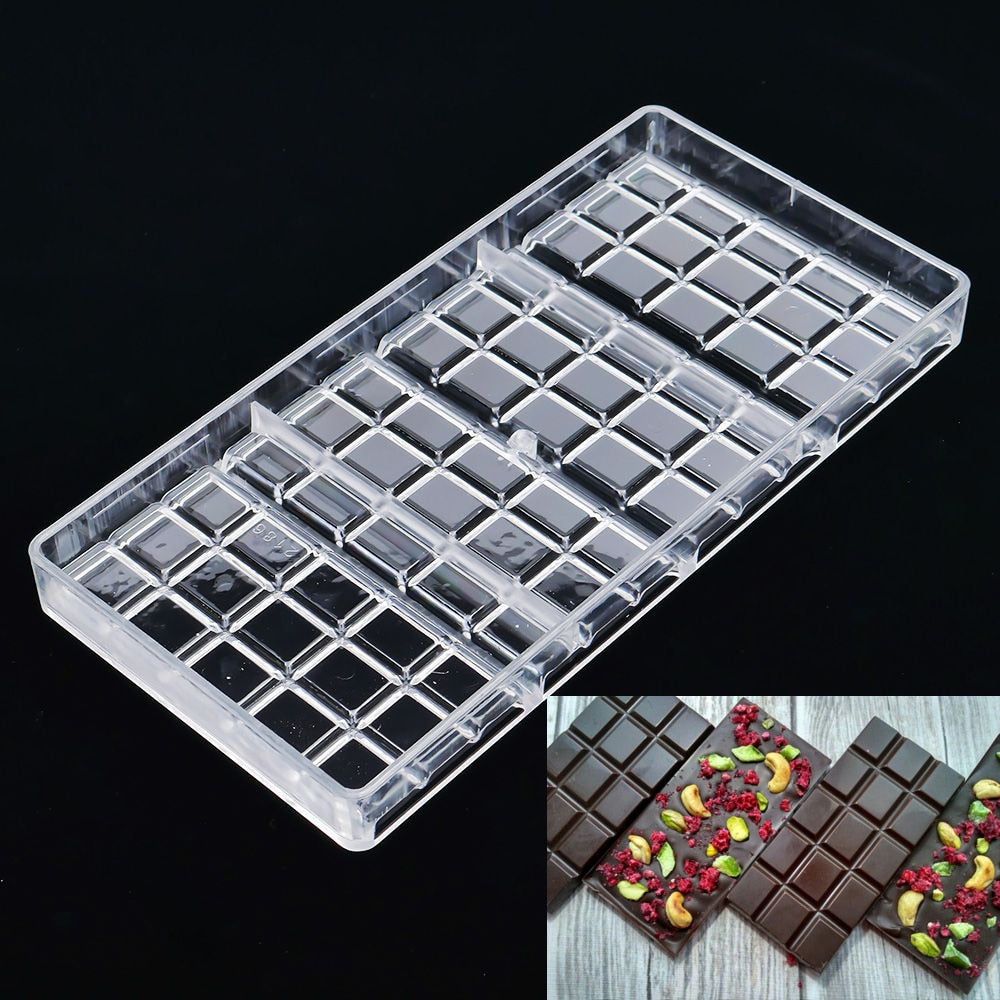 Polycarbonate Chocolate Bar Mold Fondant Shapes Candy Jelly Mould Plastic Baking Pastry Mould