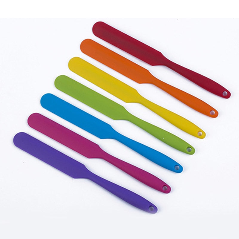 Popular 1PC Heat Resistant Flexible Non-Stick Slim Silicone Spatula Kitchen Tools