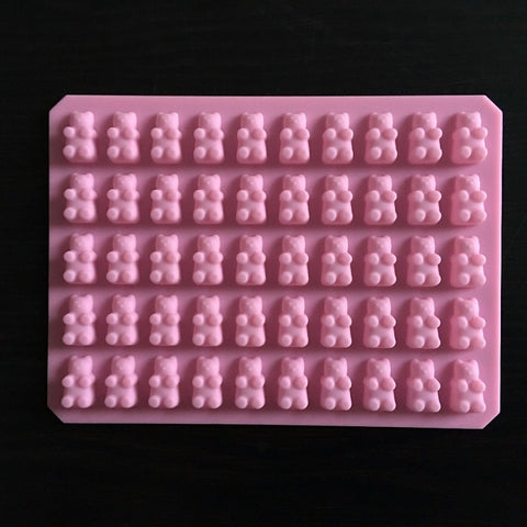 Cute Gummy Bear 50 Cavity Silicone Tray Make Chocolate Candy Ice Jelly Mold DIY Children Cake