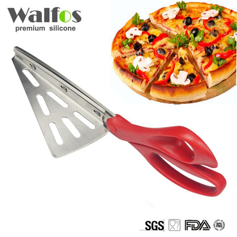 Stainless Steel Pizza Scissors Bread Knife Non-stick Soft Rubber Handle Pizza High