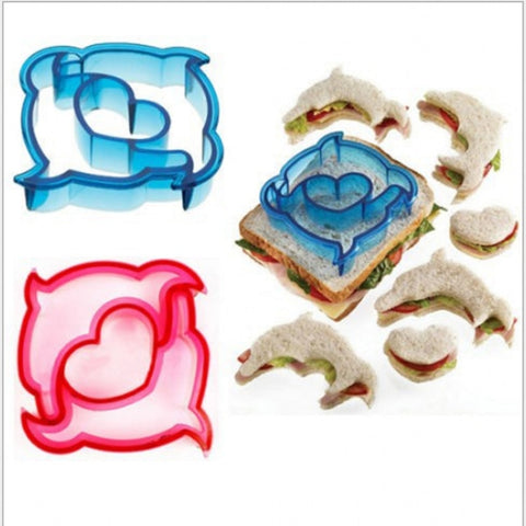 Puzzle Shape Sandwich Mould Cutter Dolphin Bear Car Dog Shape Baking Cake Bread Toast Mould Maker