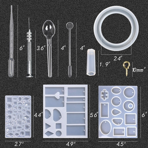 Resin Casting Molds Kit Silicone Mold Making Jewelry Necklace Pendant Mould Hand Craft DIY Set Tool