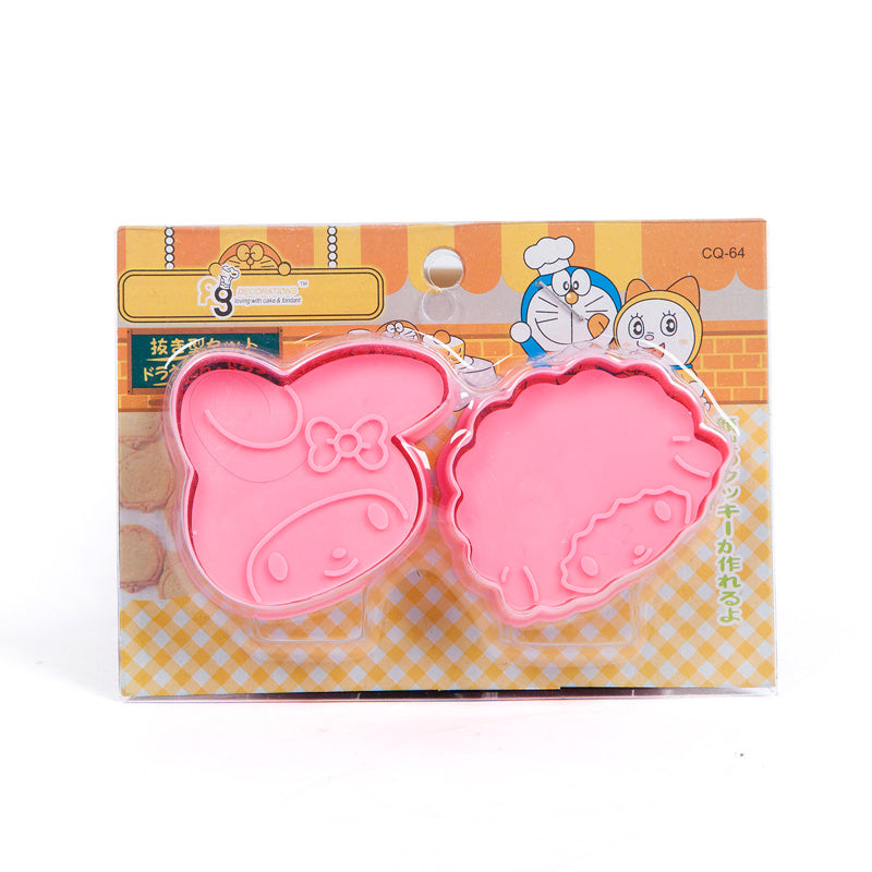 Roasting Tool 3D Biscuit Mould Cute Cartoon Animal Plastic Curved Cookie Mold Sugarcraft Chocolate
