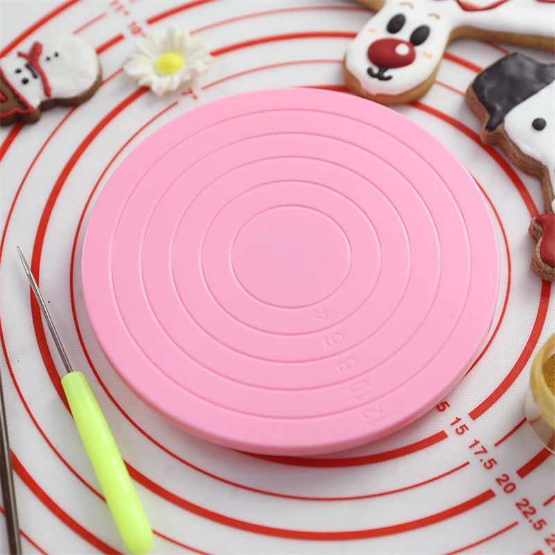 Rotating Cake Stand Turntable 5.5 Inch Revolving Cake Decorating  Platform Cake Decorating Kitchen