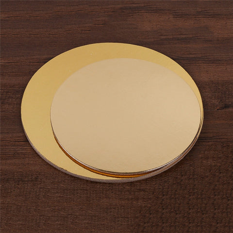 Round Gold Sliver Cake Board For Presenting Decorated Cakes Moving Plate Turntables Baking Tools