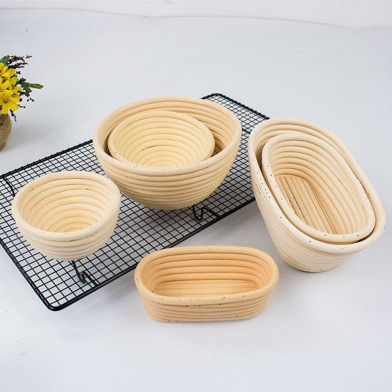 Fermentation Rattan Basket Country Bread Baguette Dough Banneton Brotform Proofing Proving Baskets