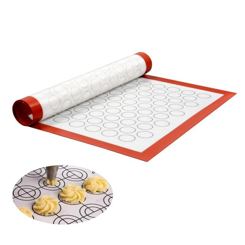 SILIKOLOVE Non-Stick Silicone Baking Pad Pastry Liner Sheet Glass Fiber Rolling Dough Mats Cookie