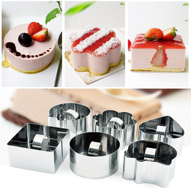Salad Cheese Tool Die Cupcake Mold Stainless Steel Bakeware Tools Baking Tools 1PC Cake