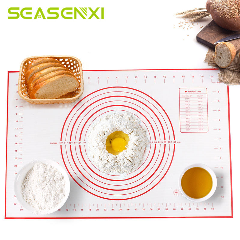Silicone Baking Mats Sheet Pizza Dough Non-Stick Maker Holder Pastry Kitchen Gadgets Cooking Tools