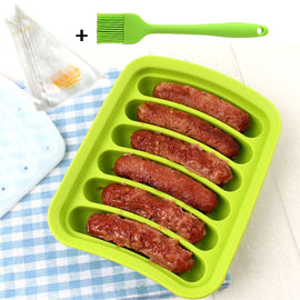 Silicone Cake Tool Hot Dog Sausage finger Orange Non Stick Eclair 6 Forms Silicone Baking Mold 10