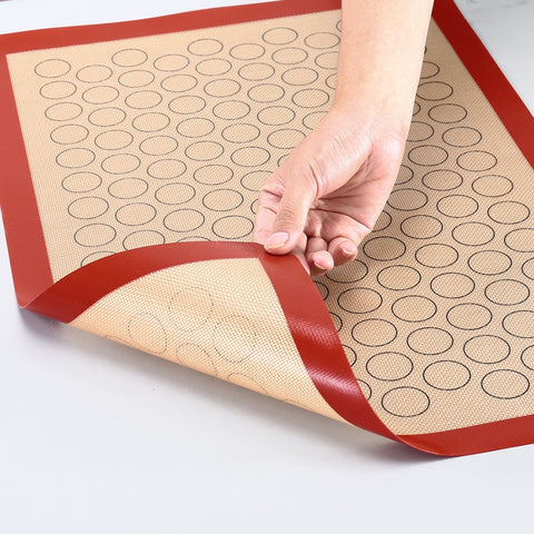 Silicone Macaron Baking Mat - for Bake Pans - Macaroon/Pastry/Cookie Making - Professional Grade