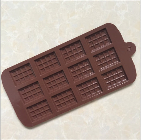 Silicone Mini Chocolate Block Bar Mould Mold Ice Tray Cake Decorating Tool