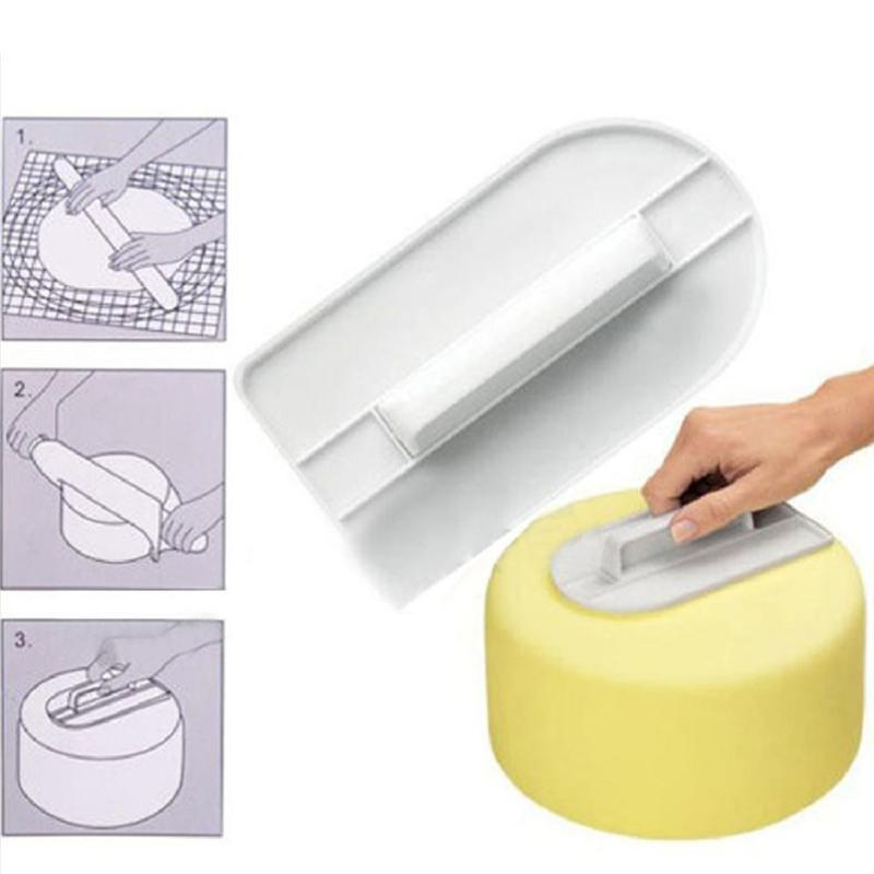 Silicone Mold Cake Smoother Polisher Cake Decorating Tools Smoother Fondant Pastry Sugarcraft DIY