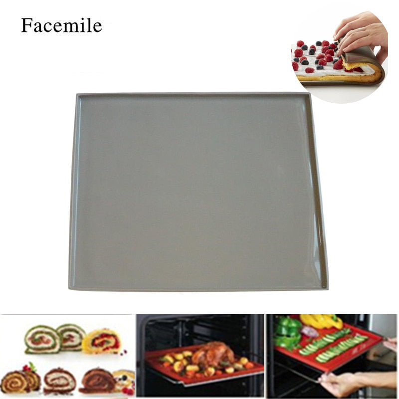 Silicone Pastry Cookie Cooking Mould Oven Mat Gigt Roll Baking Macaron Gigt Pad Swiss Roll Pad