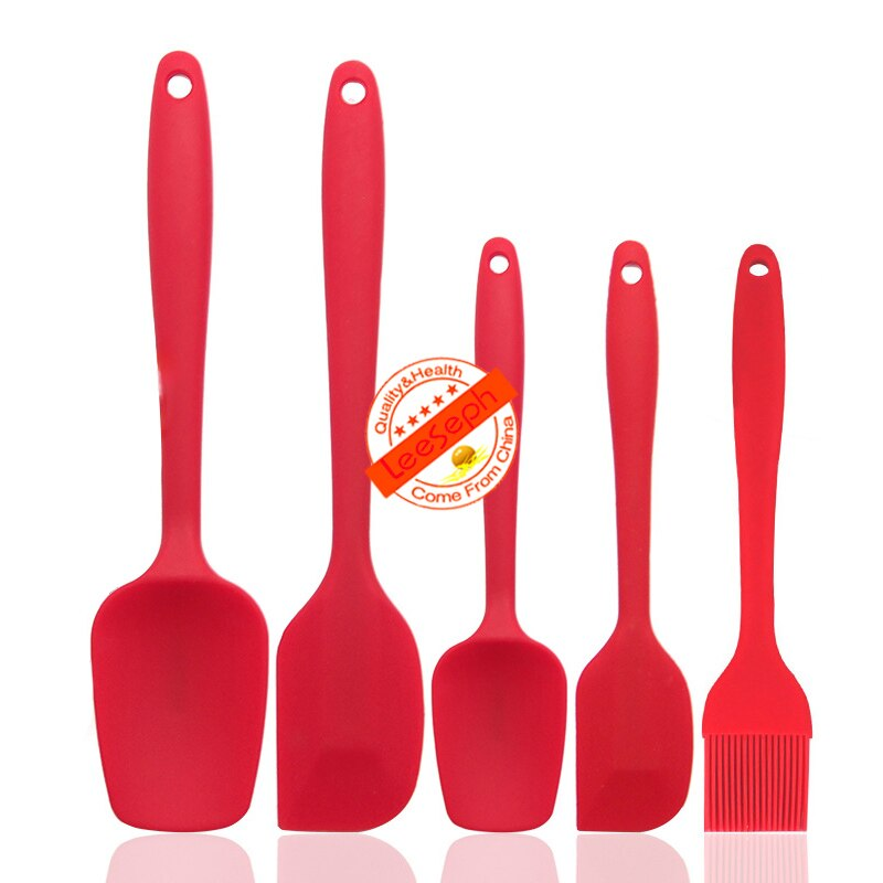 Silicone Spatula Set, Heat-Resistant Baking Spoon Spatulas, Easy-to-Clean Seamless