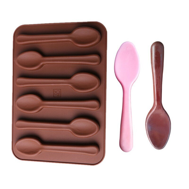 Silicone Spoon Cake Mold Chocalate Mould /Cooking Tools Biscuit Candy Jelly Mold Baking