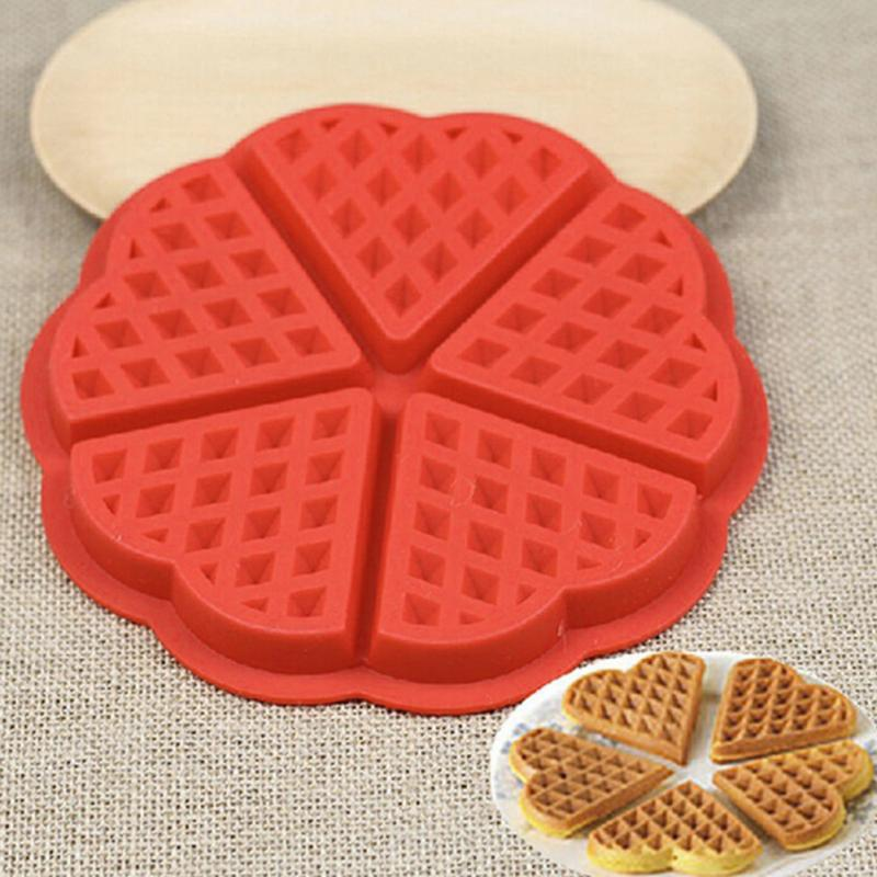 Silicone waffle cake chocolate DIY pan mold pastry baking mould