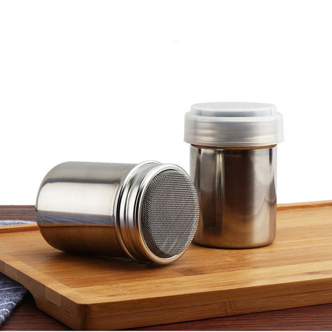 Small and Large Size Stainless Steel Chocolate Shaker Icing Sugar Powder Flour Powder Cocoa Coffee