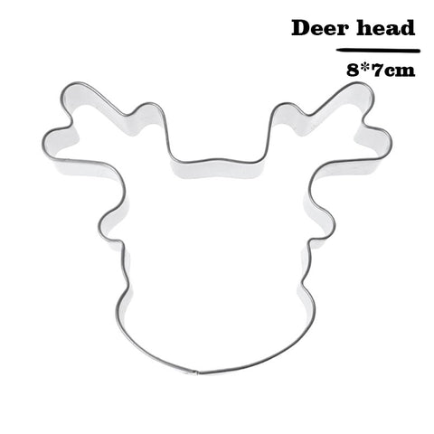 Snowflake Christmas Gingerbread Man Cookie Tools Cutter Mould Biscuit Press Icing Stamp Mold