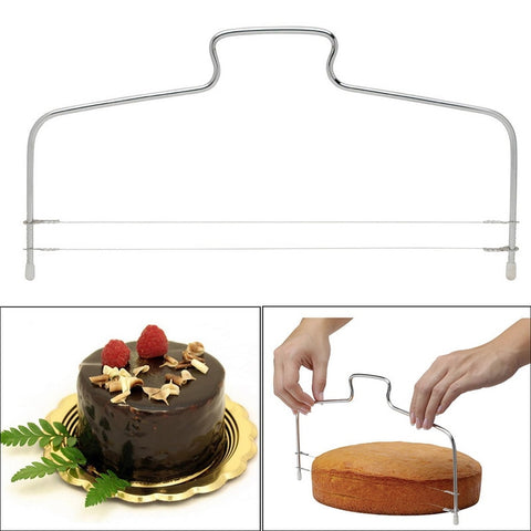 Stainless Steel Adjustable Wire Cake Cutter Slicer Spatula Cream Cake Decorating Tools Kitchen