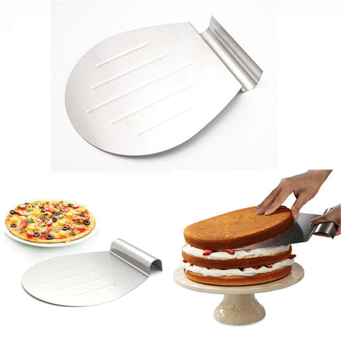 Stainless Steel Cake Baking Tools Cake Pizza Shovel Transfer Cake Tray Moving Plate Cake Lifter