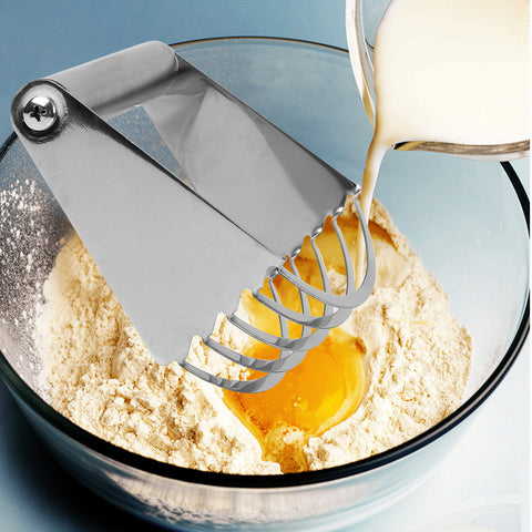Stainless Steel Manual Dough Blender Kitchen Accessories Baking Pastry Blades Flour Mixer Butter