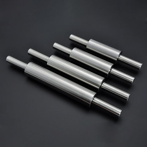 Stainless Steel Non Stick Rolling Pin Fondant Cake Hollow Baking Rough Clay Pizza Pasta Roller