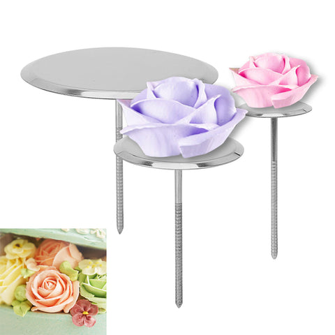 Stainless Steel Piping Nail Cake Flower Nails DIY Needle Stick Baking Piping Stands Tools Ice