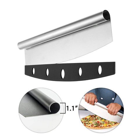 Stainless Steel Pizza Cutter Slicer & Knife  Tools With Sheath Kitchen Gadget Pizza