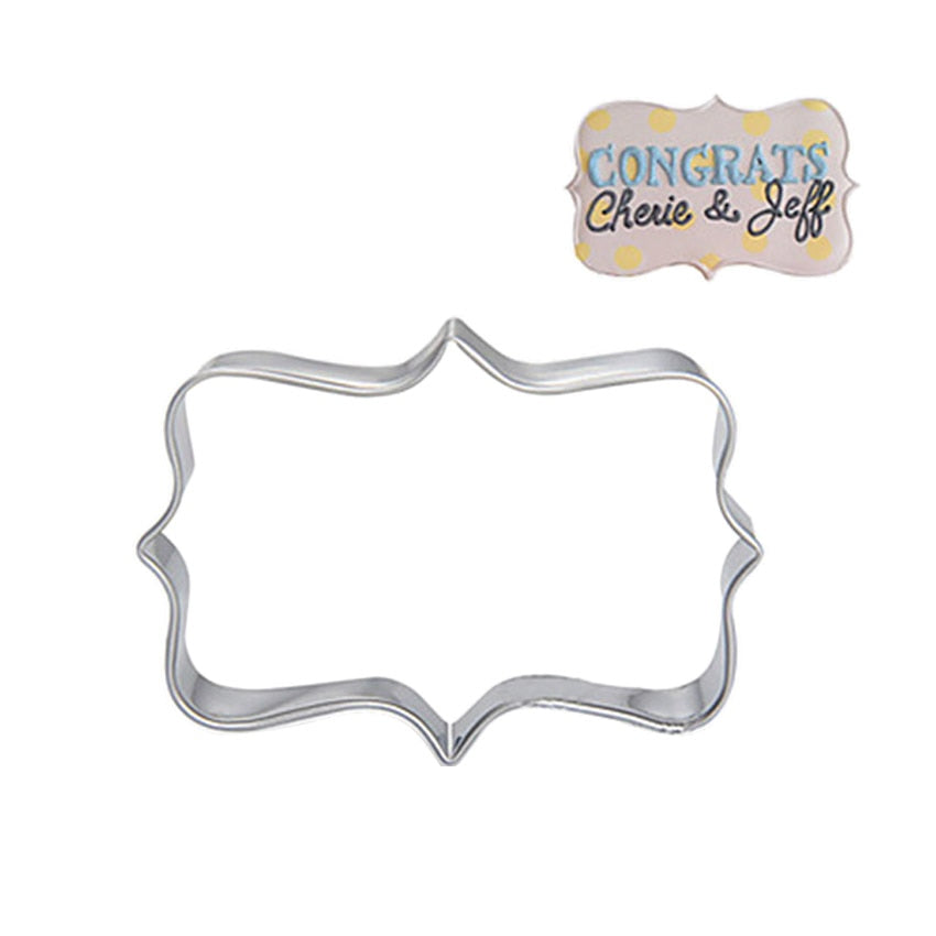 Sugar biscuit mold 3Pcs Plaque Cutter Cookies Frame DIY Cake Oval Square Rectangle Fancy Stainless