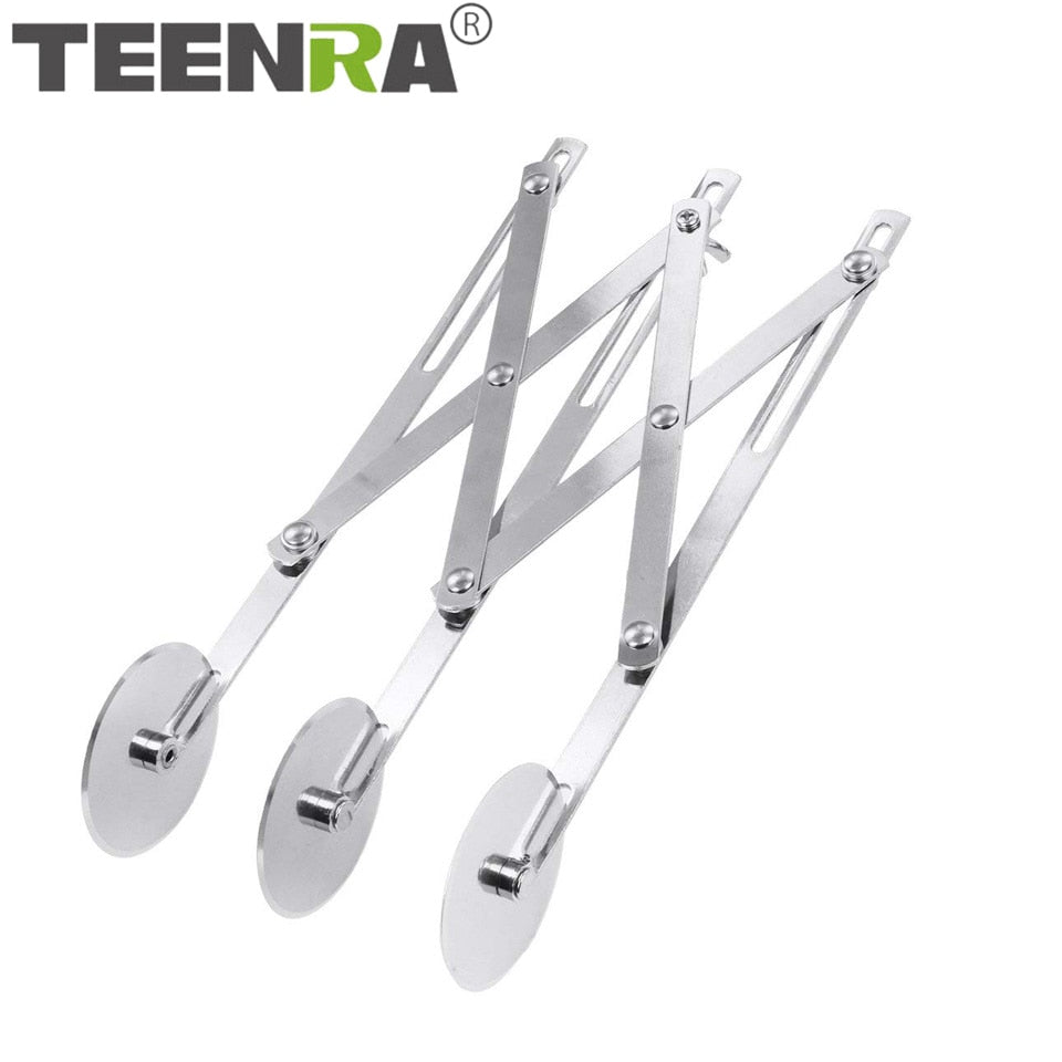 TEENRA 3/5/7 Wheel Pizza Cutter Stainless Steel Pizza Cutter Scissors Pizza Knife Roller Pastry