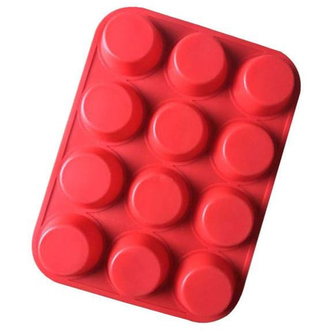 TTLIFE 12 Holes Silicone Mold Muffin Fondant Cake Cupcake Dessert Cookies Baking Mould Pastry Chocolate Bakeware Decorating Tool