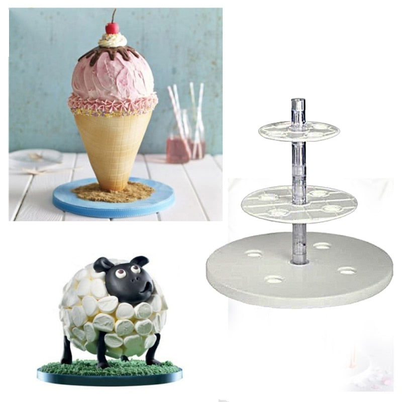 Tiers And Spheres Cake Frame Kit Anti-Gravity Cake Kit Multi Tiered Cake Stand Wedding Decoration
