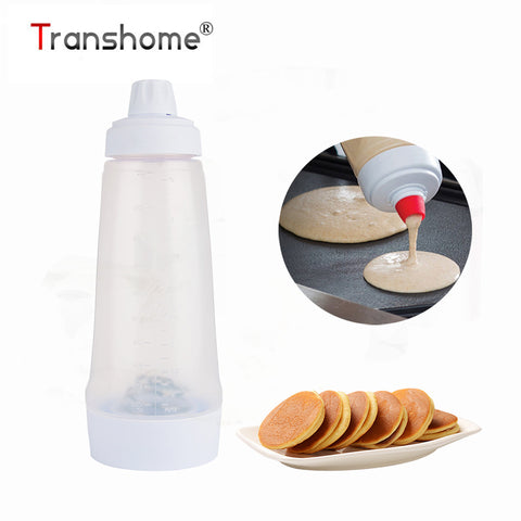 Transhome Batter Mixing Bottle Cupcake Muffin Tool Pancake Dispenser Waffles Cake Decorating Tools