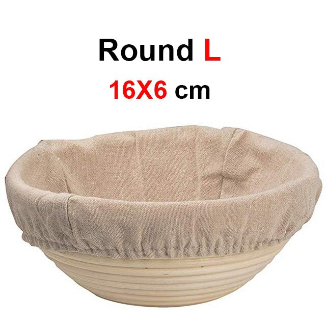 UPORS Rattan Bread Proofing Basket Natural Oval Wicker Dough Fermentation Sourdough Banneton Basket