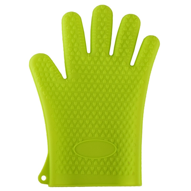 Unibird 1Pc Heat Resistant Silicone Oven Mitts Gloves Grill BBQ Baking Tool Anti-Slid Kitchen