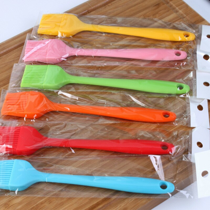 Urijk 21*3cm Multi Color Silicone Basting Pastry Brush Oil Brushes For Cake Bread Butter Safety