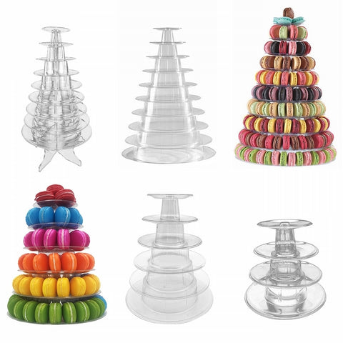 Urijk 4/6/10 Tiers Macaroon Display Cake Stand Cupcake Display Rack Holder Macaron Tower Birthday