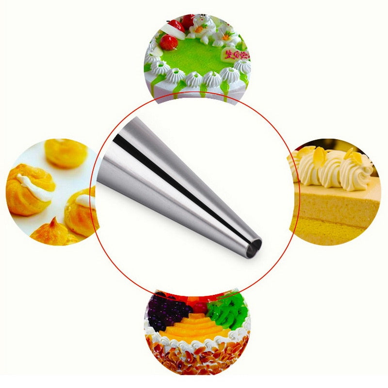 Urijk 5Pcs Cream Horn Moulds Stainless Steel DIY Baking Cones Spiral Baked Croissants Tubes Horn