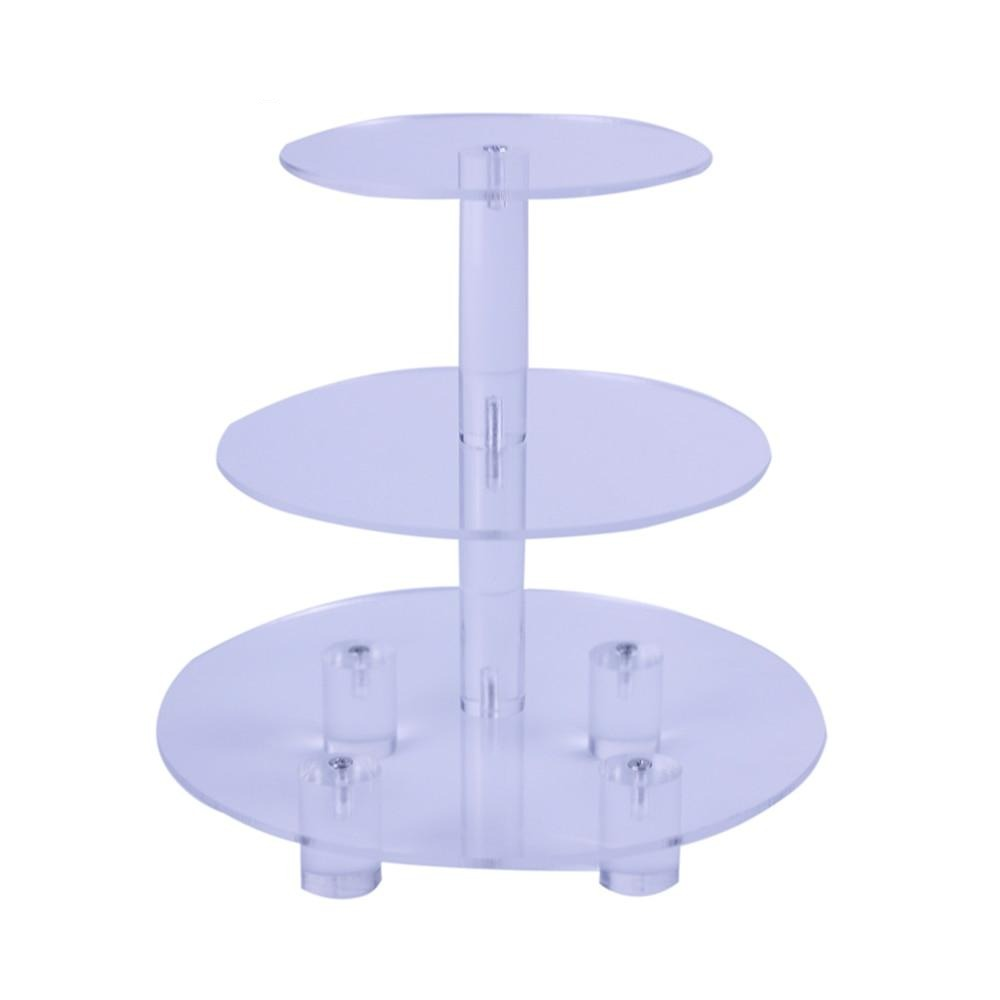 1 PC Transparent Round 3 Tier Acrylic Cupcake Display Stand /cake stand /acrylc cupcake