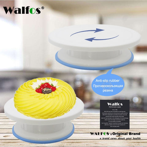 WALFOS 27cm  Cake Turntable Rotating Cake Decorating Turntable Anti-skid Round Cake Stand Rotary