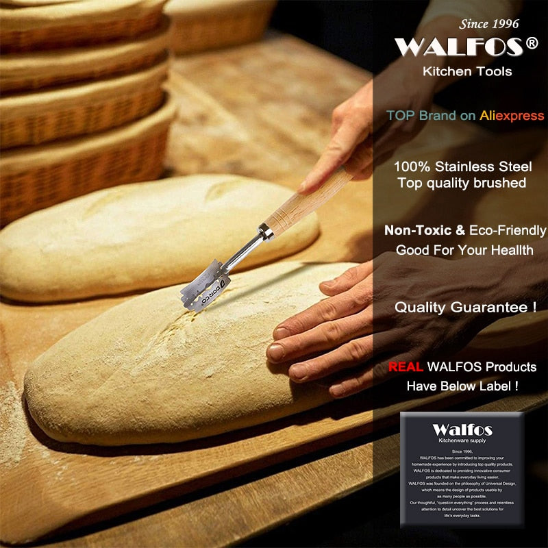 WALFOS Bread Lame New European Bread Arc Curved Bread Knife Western-style Baguette Cutting French