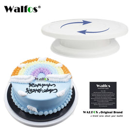 WALFOS Cake Decorating Tools Cake Stand Turntables Decorating Stand Platform Cupcake Stand Cake
